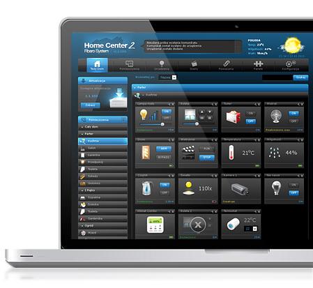 Fibaro užívateľske rozhranie