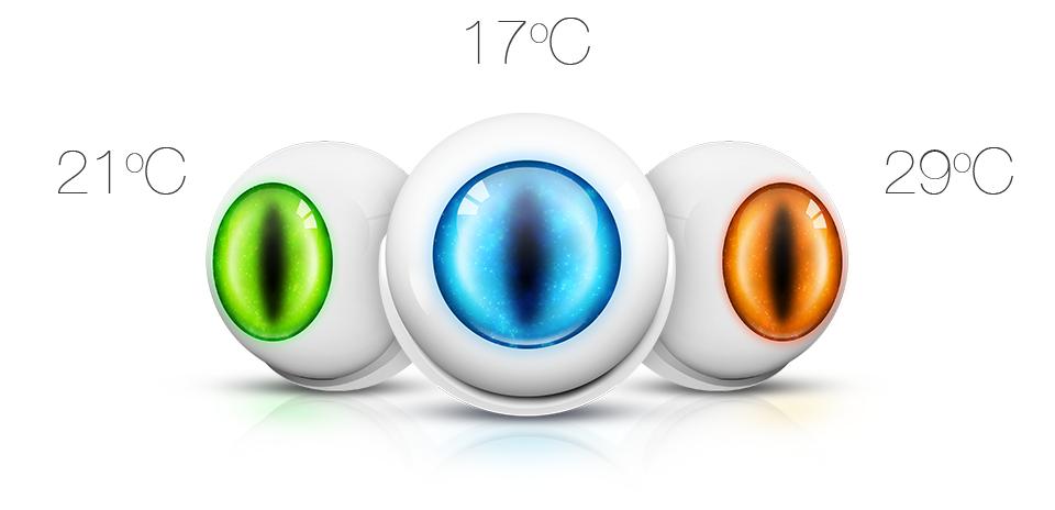 Pohybový senzor citlivý na teplotu