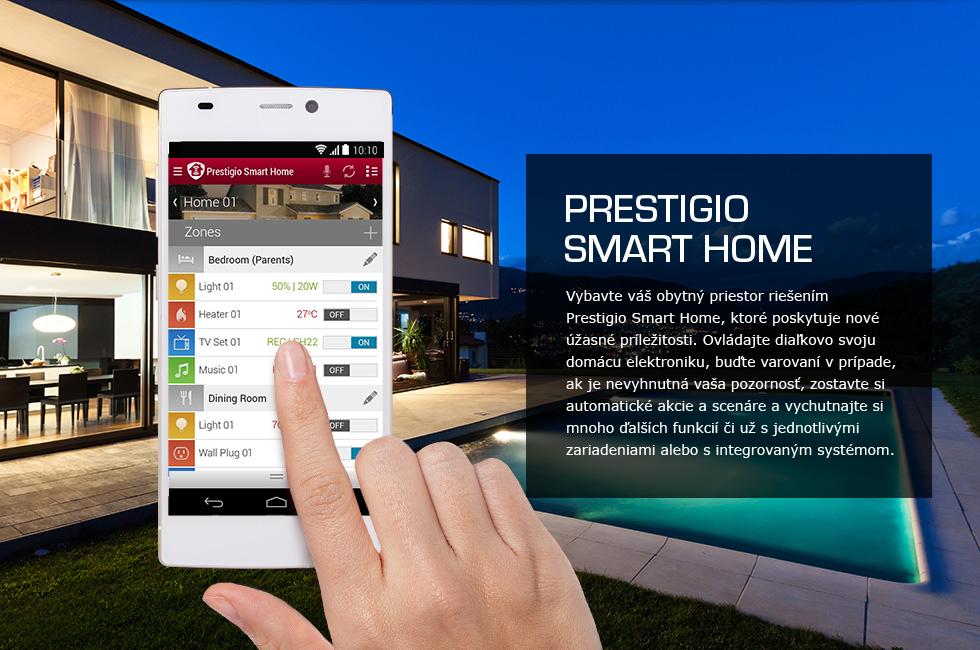 ovládanie svetiel v dome pomocou prestigio smart led